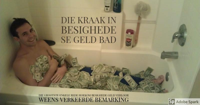 Die kraak in besighede se geld-bad